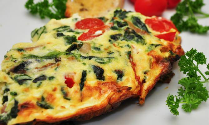 Spinach and Ham Frittata