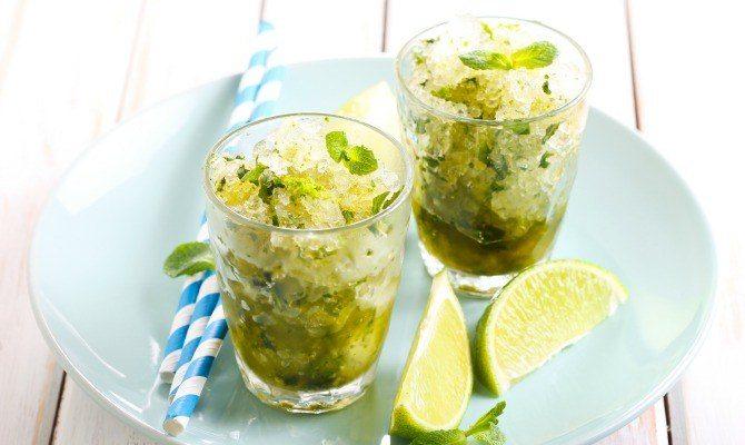 Lime Granita with Fresh Mint