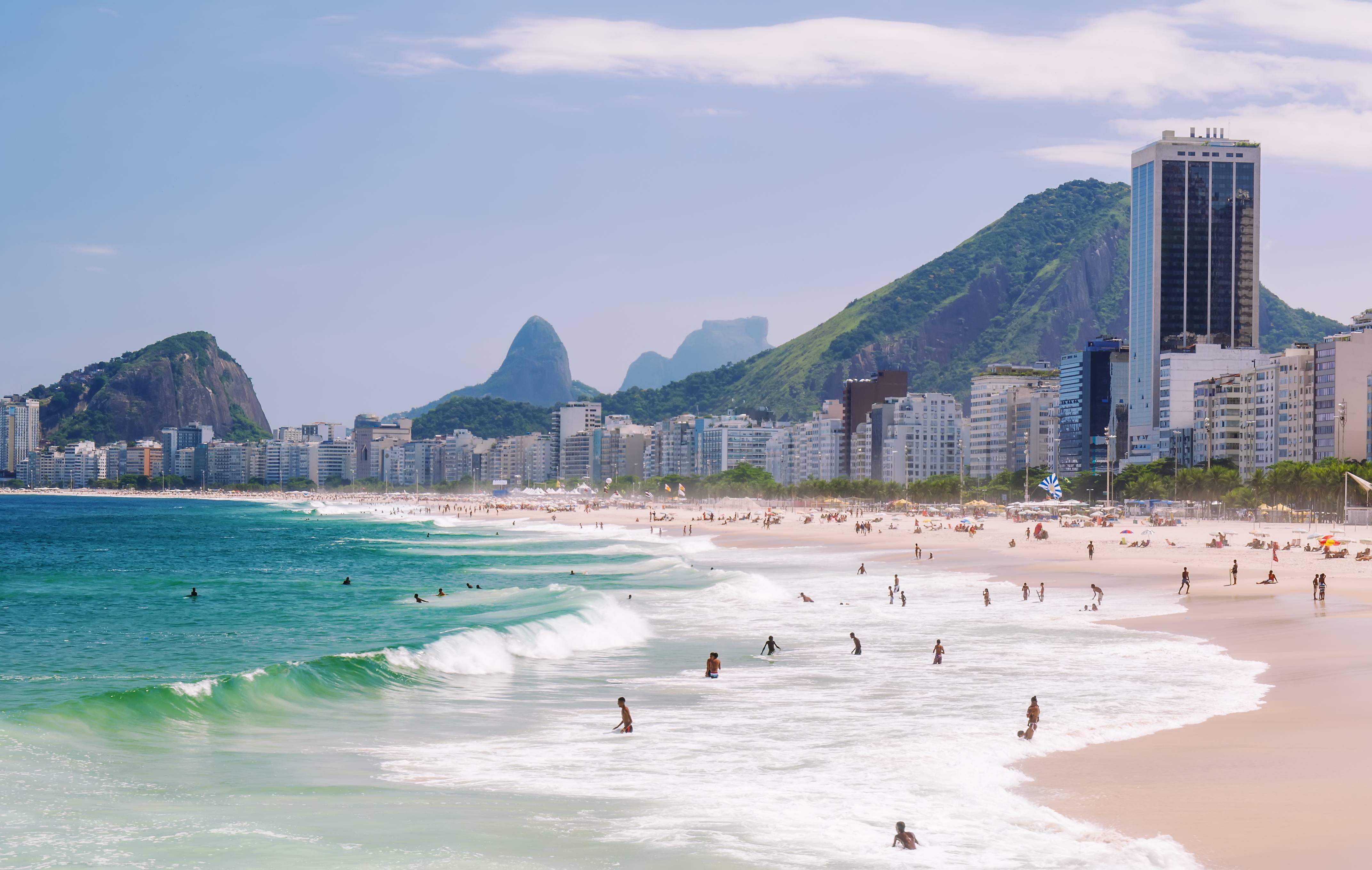 Boys at Leme Beach   Copacabana beach, Rio de Janeiro