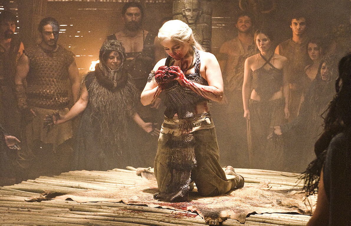 Image result for daenerys eats a heart