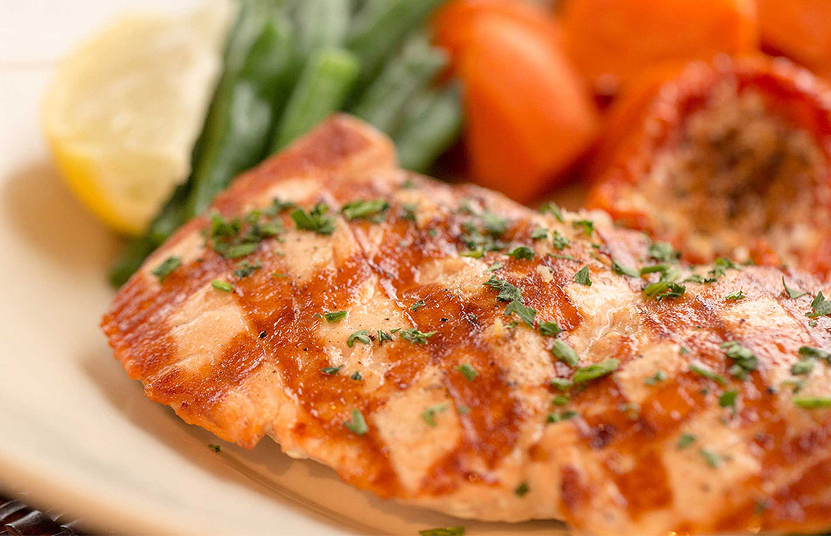 Skinnylicious Grilled Salmon from The Healthiest Menu Items