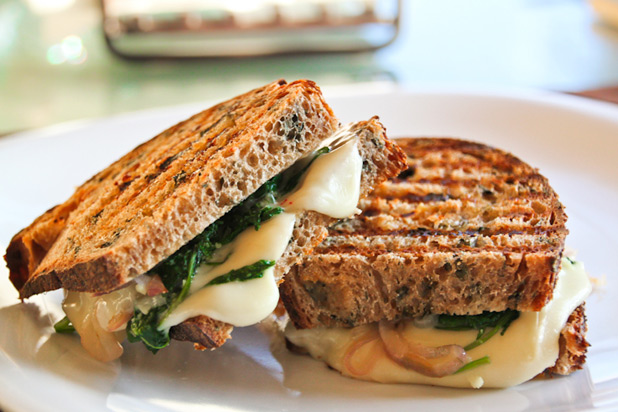 The Picky Eater — Kale, Garlic, and Caramelized Onion Paninis
