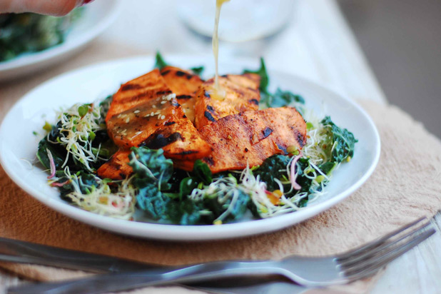 10th Kitchen — Grilled Sweet Potato and Kale Salad