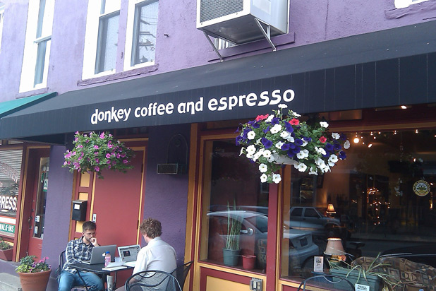 Best Shop Near Ohio University: Donkey Coffee