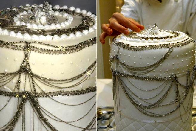$130,000 Platinum Wedding Cake