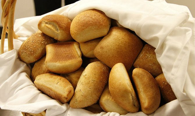 Basket of rolls
