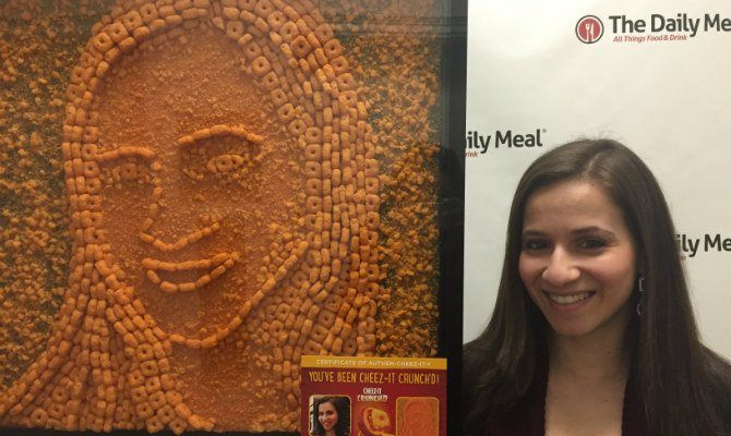 Cheez-It's New Marketing Campaign: Sending a Giant Portrait of Our Writer in Cheez-It Form