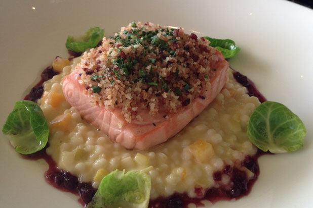 Slow Poached Scottish Salmon by chef Seakyeong Kim
