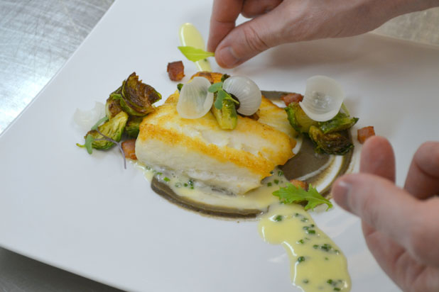 Seared Halibut by chef Michael Sindoni