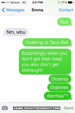 Funny Food Texts