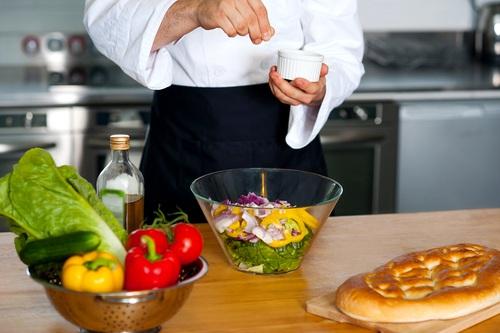 Chef Seasoning with Salt