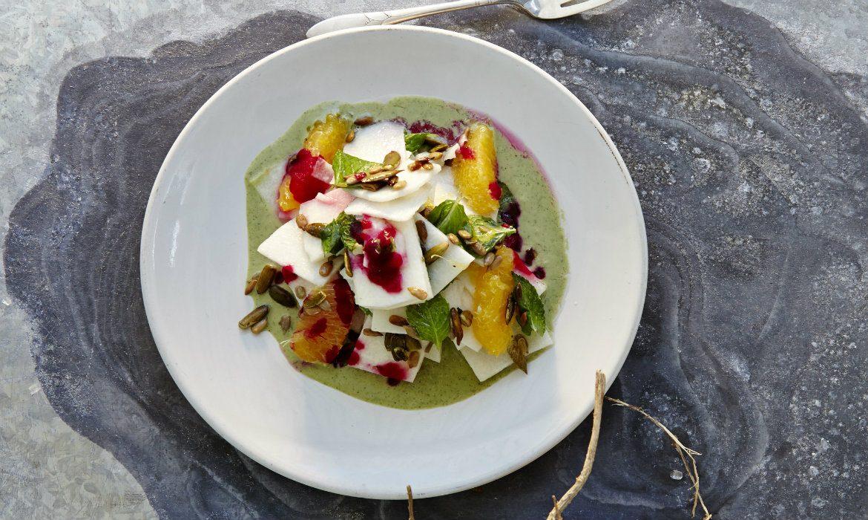 Jicama Salad with Mint Crema