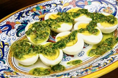 Hard-Boiled Eggs in Salsa Verde