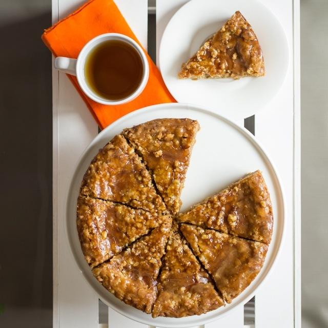 Pumpkin Pecan Streusel Cookie Cake